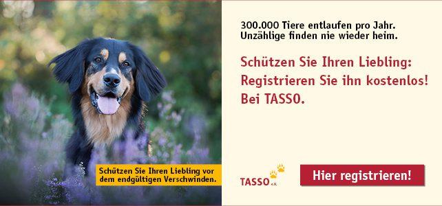Lassen Sie Ihr Tier registrieren!